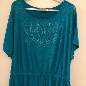 Avenue women's blouse cold shoulder sleeves